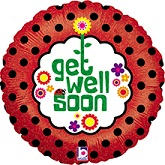 "18"" Get Well Soon Dots Holographic"
