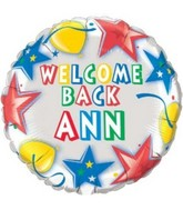 "18"" Write-a-Name Welcome Back Personalized Mylar Balloon"