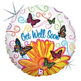 "18"" Pop Art Butterfly Get Well"