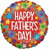 "18"" Happy Father&#39s Day Holographic Stars"
