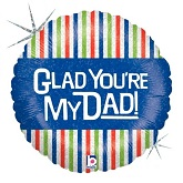 "18"" Glad You&#39re Mu Dad Mylar Balloon"