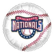 "9""  Airfill Baseball Washington Nationals Balloon"