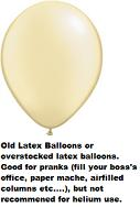 "16""  Prank Latex Balloons Qualatex  Pearl IVORY       50CT"