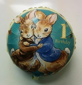 "18"" Peter Rabbit Hugging 1st Birthday Balloon"