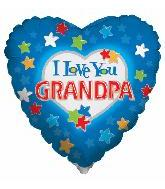 "18"" I Love You Grandpa Balloon"