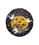 "9"" Airfill Only  Pumking Halloween Balloon"
