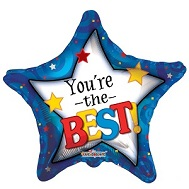 "18"" You're the Best Star With Swirls Balloon"