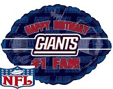 "18"" Happy Birthday #1 Fan Giants"
