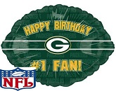 "18"" Happy Birthday #1 Fan Green Bay Packers"
