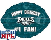 "18"" Happy Birthday #1 Fan Eagles"