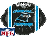 "18"" NFL Foil Carolina Panthers Damaged Print"