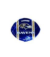 "9""  Airfill Balitmore Ravens Football Shape Balloon"