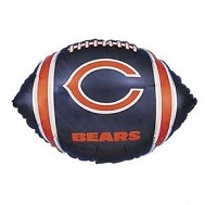 "9"" Airfill Only NFL Balloon Chicago Bears"