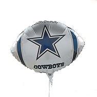 "9"" Airfill Only NFL Balloon Dallas Cowboys"