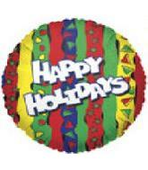 "9"" Airfill Happy Holiday Stripes M325"