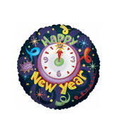 "36""  Time To Celebrate New Year Balloon"