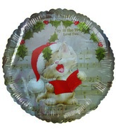 "18"" Christmas Wreath Kitten Musical Foil Balloon"