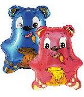 "9"" Blue Honey Bear Balloon"
