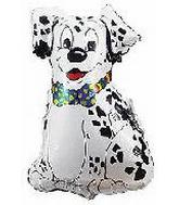 "28"" Dalmatian Dog Balloon with Bow Tie Center"