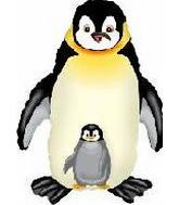 "35"" Jumbo Mylar Penguin Balloon Black"
