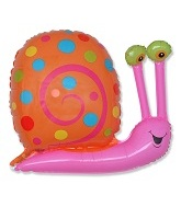 "27"" Pink Head Orange Snail Balloon"