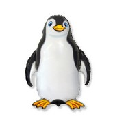 "24"" Black Happy Penguin Shaped Balloon"