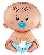 Jumbo Baby Boy in Blue Diaper Balloon