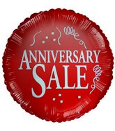 "18"" Anniversary Sale Red Foil Balloon"