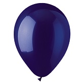 "9"" Crystal Navy Latex (100 Per Bag)"
