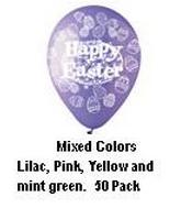 "12"" Ast. ""Happy Easter"" Eggs Latex 50&#39s"