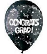 "12"" Congrats Grad Black Latex 50&#39s"