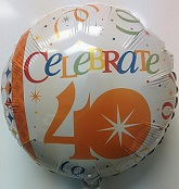 "18"" Celebrate in Style 40th Birthday"