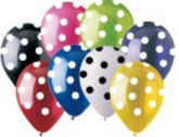 "12"" Assorted Polka Dot Party Latex 50&#39s"