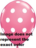 "12"" Pink with White Polka Dot Latex 50&#39s"
