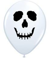 "5"" Skull Face Qualatex Latex balloon"