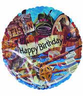 "18"" Happy Birthday Fishing Collage"