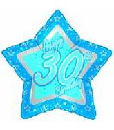 "21"" Happy 30th Birthday Blue Star"