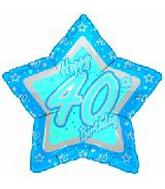 "21"" Happy 40th Birthday Blue Star"