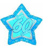 "18"" Happy 60th Birthday Blue Star"