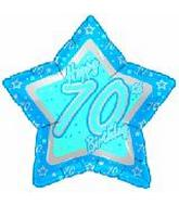 "18"" Happy 70th Birthday Blue Star"
