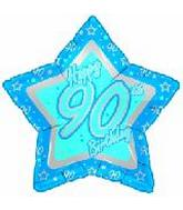 "21"" Happy 90th Birthday Blue Star"