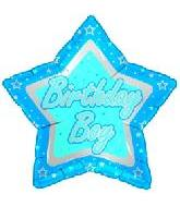 "18"" Birthday Boy Blue Star"