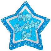 "18"" Happy Birhday Dad Blue Star"