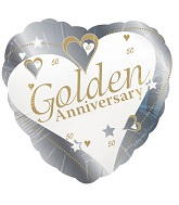 18&#39&#39 Golden Anniversary Silver 50th