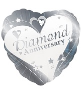 18&#39&#39 Diamond Anniversary Silver 60th