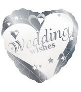 18&#39&#39 Wedding Wishes Silver