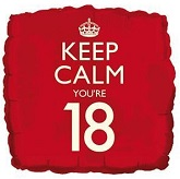 18&#39&#39 Keep Calm You&#39re 18 Balloon