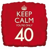 18&#39&#39 Keep Calm You&#39re Only 40 Balloon