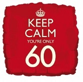 18&#39&#39 Keep Calm You&#39re Only 60 Balloon