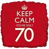 18&#39&#39 Keep Calm You&#39re Only 70 Balloon